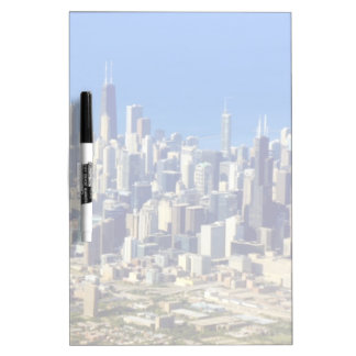 Aerial view of Chicago Downtown with Lake Dry Erase Board