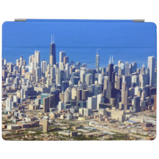 Aerial view of Chicago Downtown with Lake iPad Cover