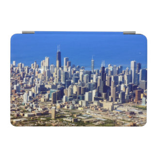 Aerial view of Chicago Downtown with Lake iPad Mini Cover