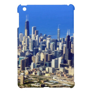 Aerial view of Chicago Downtown with Lake iPad Mini Covers