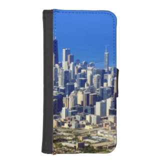Aerial view of Chicago Downtown with Lake iPhone SE/5/5s Wallet Case