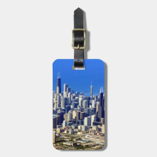 Aerial view of Chicago Downtown with Lake Luggage Tag