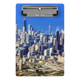 Aerial view of Chicago Downtown with Lake Mini Clipboard
