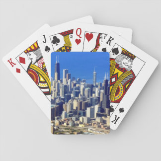 Aerial view of Chicago Downtown with Lake Playing Cards