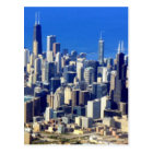 Aerial view of Chicago Downtown with Lake Postcard