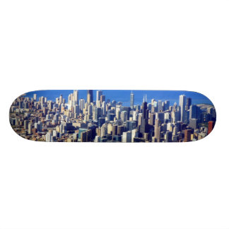 Aerial view of Chicago Downtown with Lake Skateboard Deck