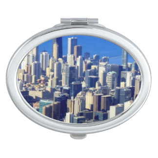 Aerial view of Chicago Downtown with Lake Travel Mirrors