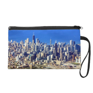 Aerial view of Chicago Downtown with Lake Wristlet