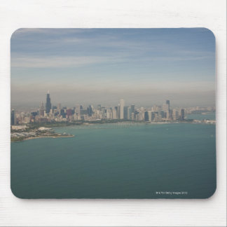 aerial view of Chicago from lake Michigan Mouse Mat