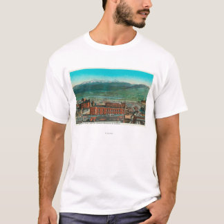 Aerial View of City and Highland Mountain T-Shirt