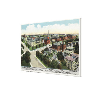 Aerial View of City Hospital Canvas Print