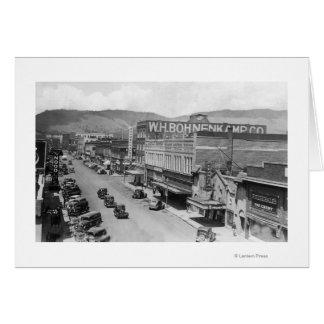 Aerial View of City StreetLa Grande, OR Card