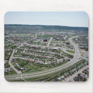 Aerial view of cityscape of Newfoundland, Canada Mouse Mat