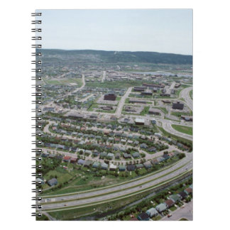 Aerial view of cityscape of Newfoundland, Canada Note Book