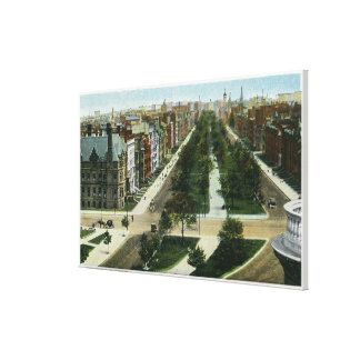 Aerial View of Commonwealth Avenue Canvas Print