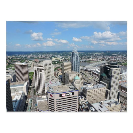Aerial view of downtown Cincinnati Postcard