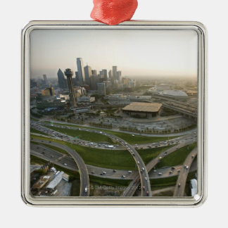 Aerial view of downtown Dallas, Texas Christmas Ornament