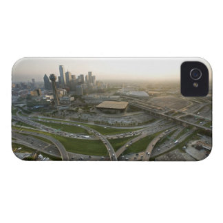 Aerial view of downtown Dallas, Texas iPhone 4 Case-Mate Cases