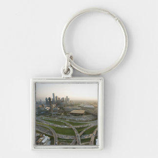 Aerial view of downtown Dallas, Texas Key Ring