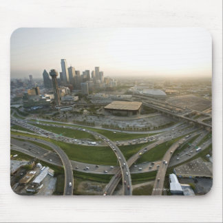 Aerial view of downtown Dallas, Texas Mouse Mat