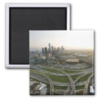 Aerial view of downtown Dallas, Texas Square Magnet
