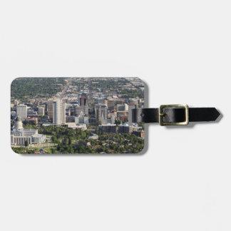 Aerial view of downtown Salt Lake City, Utah Luggage Tag