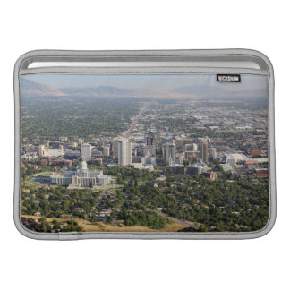 Aerial view of downtown Salt Lake City, Utah MacBook Sleeve