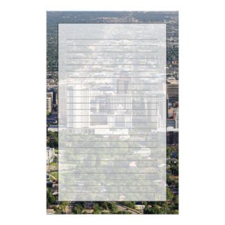 Aerial view of downtown Salt Lake City, Utah Stationery