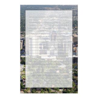 Aerial view of downtown Salt Lake City, Utah Stationery Design