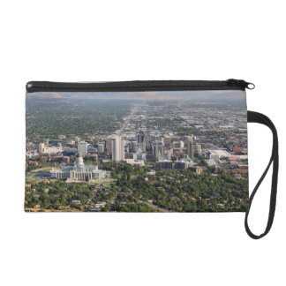 Aerial view of downtown Salt Lake City, Utah Wristlet