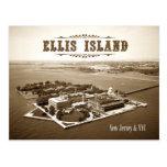 Aerial view of Ellis Island, NJ & NY Postcard