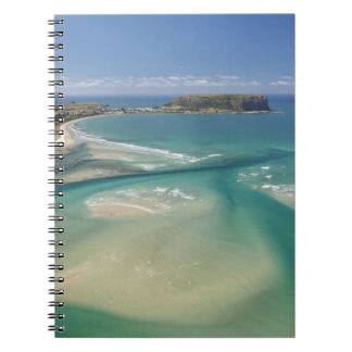 Aerial view of estuary, Sawyer Bay, Stanley and Spiral Notebook