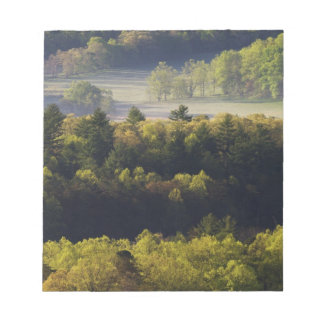 Aerial view of forest in Cades Cove, Great Smoky Notepad