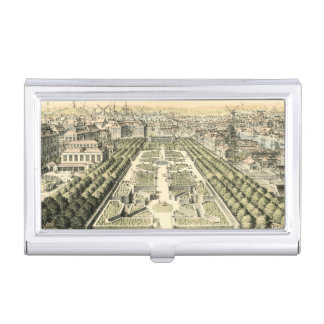 Aerial View of Formal Garden by Eric Dahlbergh Business Card Case