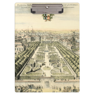 Aerial View of Formal Garden by Eric Dahlbergh Clipboard