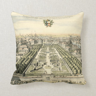 Aerial View of Formal Garden by Eric Dahlbergh Cushion