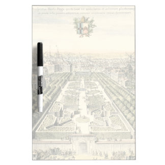 Aerial View of Formal Garden by Eric Dahlbergh Dry-Erase Whiteboards