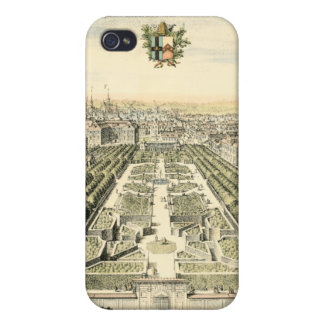 Aerial View of Formal Garden by Eric Dahlbergh iPhone 4/4S Cover