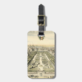 Aerial View of Formal Garden by Eric Dahlbergh Luggage Tags
