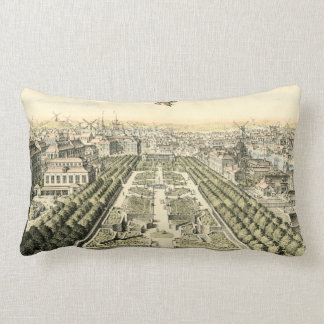 Aerial View of Formal Garden by Eric Dahlbergh Lumbar Cushion