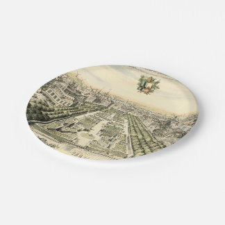 Aerial View of Formal Garden by Eric Dahlbergh Paper Plate