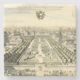 Aerial View of Formal Garden by Eric Dahlbergh Stone Coaster