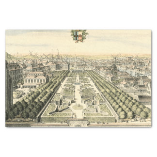 Aerial View of Formal Garden by Eric Dahlbergh Tissue Paper