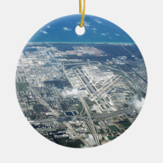 Aerial view of Fort Lauderdale Airport. (FLL) Christmas Ornament