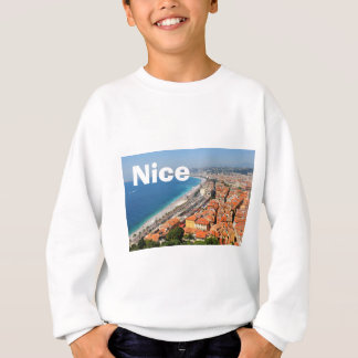 Aerial view of French Riviera in Nice, France Sweatshirt