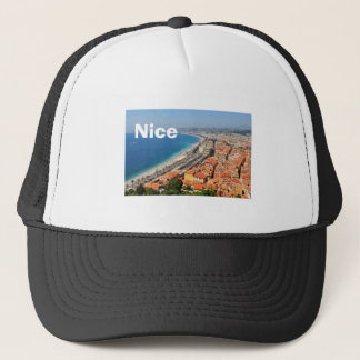Aerial view of French Riviera in Nice, France Trucker Hat