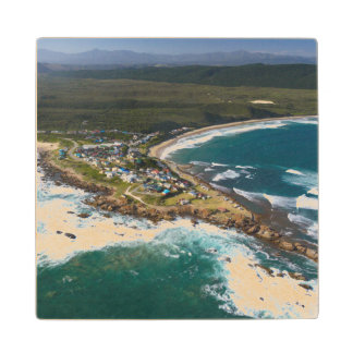 Aerial View Of Garden Route, Western Cape Wood Coaster