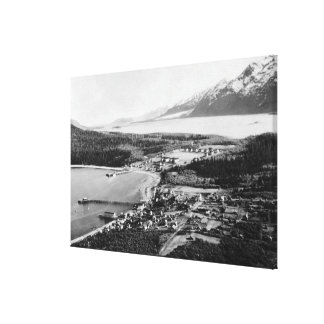 Aerial view of Haines, Alaska location of Canvas Print