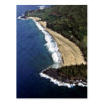 Aerial View Of Hanalei Beach - Kauai Post Card