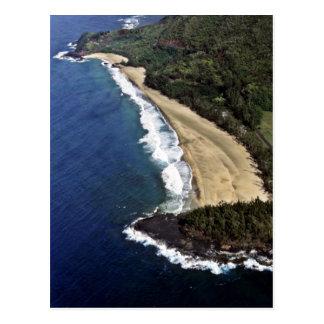 Aerial View Of Hanalei Beach - Kauai Postcard